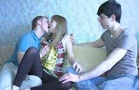 Couple amateur dans une vidéo X Cuckold